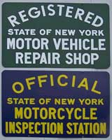 NYS motorcycle inspection station